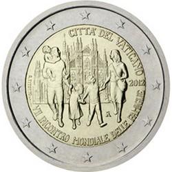 Vatican 2 Euro commémorative 2012 - Septième rencontre mondiale des familles - Blister  89.000 EX.