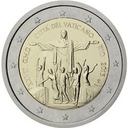 Vatican 2 Euro commémorative 2013 - 28e Journée Mondiale de la Jeunesse - Rio de Janeiro juillet 2013 - Blister  94.000 EX.