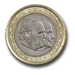1 EURO MONACO 2001  994.600 EX.