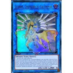 carte YU-GI-OH MP19-FR028 Licorne, Chevalier du Cauchemar Ultra Rare NEUF FR