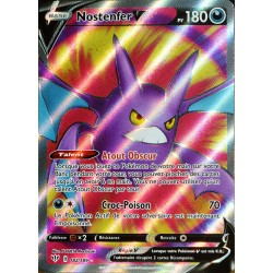 carte Pokémon 182/189 Nostenfer-V EB03 - Epée et Bouclier - Ténèbres Embrasées NEUF FR