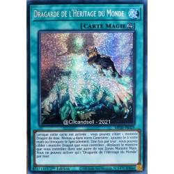 carte YU-GI-OH MP20-FR029 Dragarde de l'Héritage du Monde Prismatic Secret Rare NEUF FR