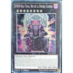 carte YU-GI-OH MP16-FR143 D/D/D Kali Yuga, Roi de la Double Aurore (D/D/D Duo-Dawn King Kali Yuga) -Super Rare NEUF FR