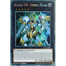 carte YU-GI-OH LCKC-FR087 Numéro S39 : Utopie l'Eclair Secret Rare NEUF FR