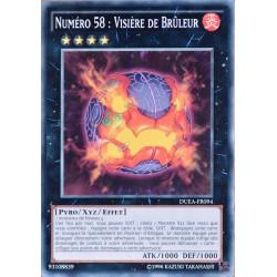 carte YU-GI-OH DUEA-FR094 Numéro 58 : Visière De Brûleur (Number 58 : Burner Visor) -Commune NEUF FR
