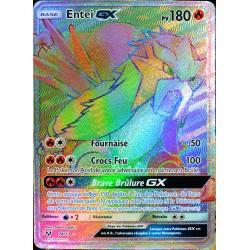 carte Pokémon 74/73 Entei-GX SL3.5 Légendes Brillantes NEUF FR