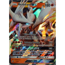 carte Pokémon 11/70 Reshiram GX 180 PV SL7.5 - Majesté des Dragons NEUF FR