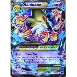 carte Pokémon 26/124 Mega Alakazam EX 210 PV - ULTRA RARE XY - Impact des Destins NEUF FR