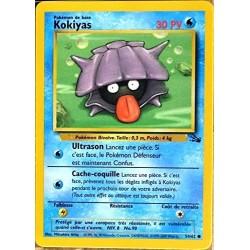 Carte Pokémon 54/62 Kokiyas 30 PV Série Fossile Neuf FR