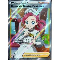 carte Pokémon 185/185 Dame du Centre Pokémon ★U EB04 - Épée et Bouclier – Voltage Éclatant NEUF FR