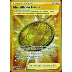 carte Pokémon 201/185 Médaille du Héros EB04 - Épée et Bouclier – Voltage Éclatant NEUF FR