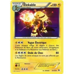carte Pokémon 54/149 Elekable 120 P carte POKEMON Frontières Franchies NEUF FR