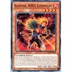 carte YU-GI-OH LEHD-FRA16 Blazeman, HÉROS Elémentaire (Elemental HERO Blazeman) -Commune NEUF FR