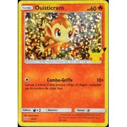 carte Pokémon 12/25 Ouisticram HOLO - 60 PV Promo 25 Ans NEUF FR
