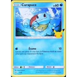carte Pokémon 17/25 Carapuce 60 PV Promo 25 Ans NEUF FR