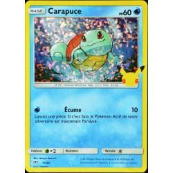 carte Pokémon 17/25 Carapuce HOLO - 60 PV Promo 25 Ans NEUF FR