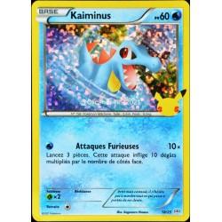 carte Pokémon 18/25 Kaiminus HOLO - 60 PV Promo 25 Ans NEUF FR