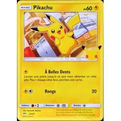 carte Pokémon 25/25 Pikachu 60 PV Promo 25 Ans NEUF FR