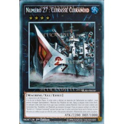carte YU-GI-OH BLRR-FR030 Numéro 27 : Cuirassé Cuiranoid (Number 27 : Dreadnought Dreadnoid) -Secret Rare NEUF FR