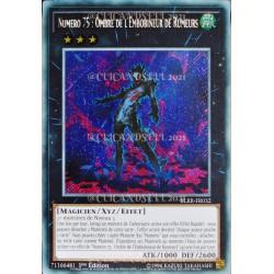 carte YU-GI-OH BLRR-FR032 Numéro 75 : Ombre de l'Embobineur de Rumeurs (Number 75 : Bamboozling Gossip Shadow) -Secret Rare NEU